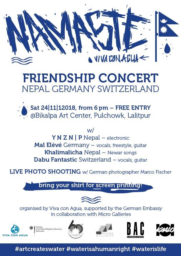 Friendship concert Nepal Germany Switzerland